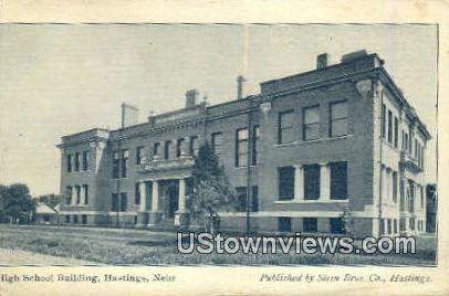 High School Bldg, Hastings - Nebraska NE Postcard