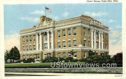 Court House - Falls City, Nebraska NE Postcard