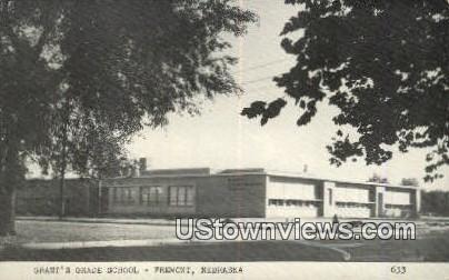 Grant's Grade School - Fremont, Nebraska NE Postcard