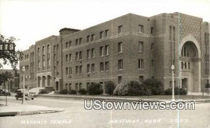 Real Photo - Masonic Temple - Hastings, Nebraska NE Postcard
