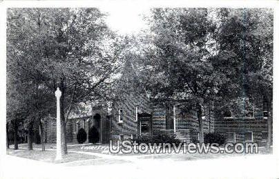 Real Photo Christian Church - Minden, Nebraska NE Postcard
