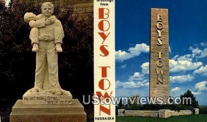 Boys Town, Nebraska,     :          Boys Town, NE Postcard