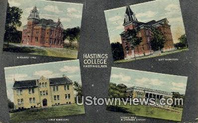 Hastings College - Nebraska NE Postcard