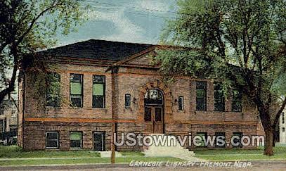 Carnegie Library - Fremont, Nebraska NE Postcard