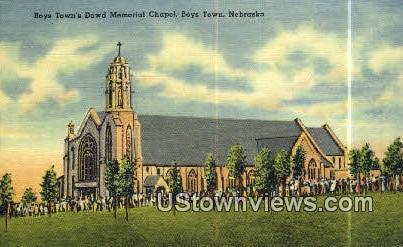 Boys Town's Dowd Memorial Chapel - Nebraska NE Postcard