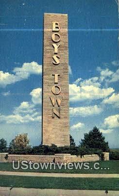 Boys Town, NE,     :     Boys Town, Nebraska Postcard