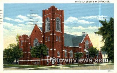 Lutheran Church - Fremont, Nebraska NE Postcard