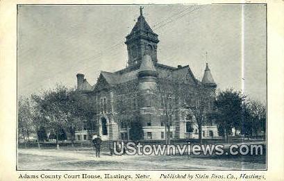Adams County Court House - Hastings, Nebraska NE Postcard