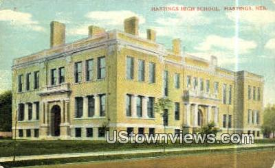 Hastings High School - Nebraska NE Postcard