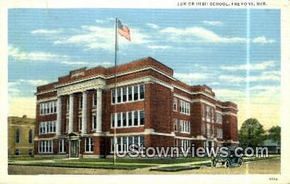 Junior High School - Fremont, Nebraska NE Postcard