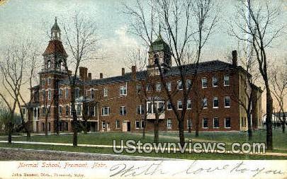 Normal School - Fremont, Nebraska NE Postcard