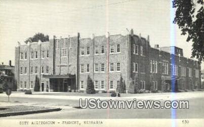 City Auditorium - Fremont, Nebraska NE Postcard