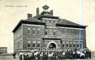High School, Alliance - Nebraska NE Postcard