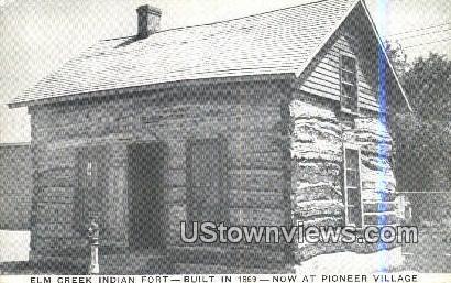 Elm Creek Indian Fort, 1869 - Cowles, Nebraska NE Postcard