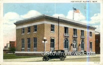 Post Office - Alliance, Nebraska NE Postcard