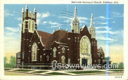 Methodist Episcopal Church - Hastings, Nebraska NE Postcard