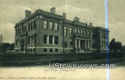 High School, Hastings - Nebraska NE Postcard