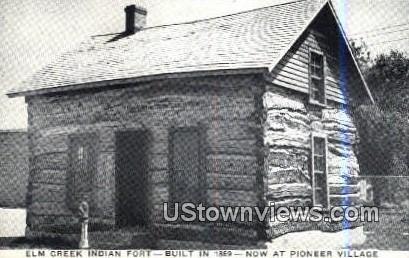 Elm Creek Indian Fort - Cowles, Nebraska NE Postcard