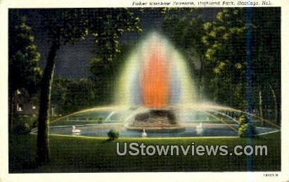Fisher Rainbow Fountain, Highland Park - Hastings, Nebraska NE Postcard