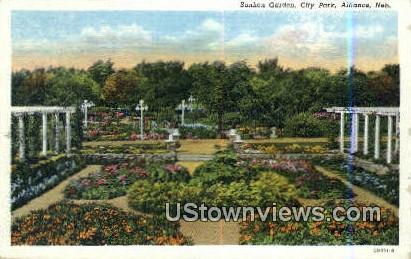 Sunken Gardens - Alliance, Nebraska NE Postcard