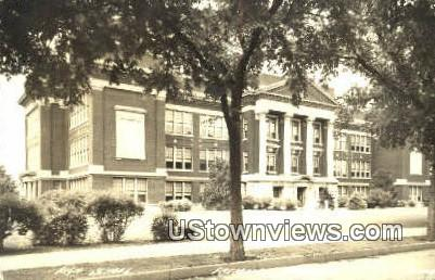 Real Photo - High School, Fremont - Nebraska NE Postcard