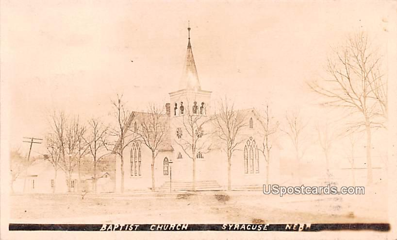 Baptist Church - Syracuse, Nebraska NE Postcard