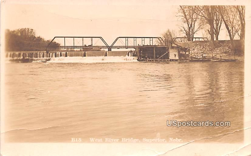 West River Bridge - Superior, Nebraska NE Postcard