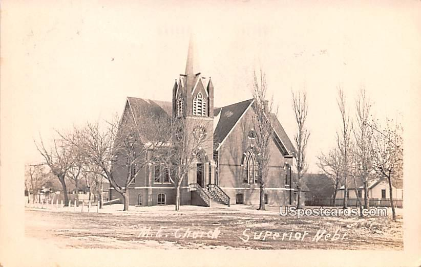 ME Church - Superior, Nebraska NE Postcard