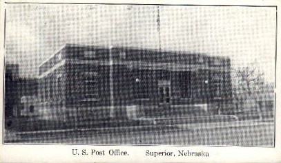 U.S. Post Office - Superior, Nebraska NE Postcard