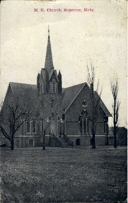 M.E. Church - Superior, Nebraska NE Postcard