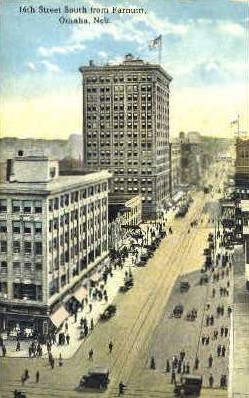 16th St. - Omaha, Nebraska NE Postcard