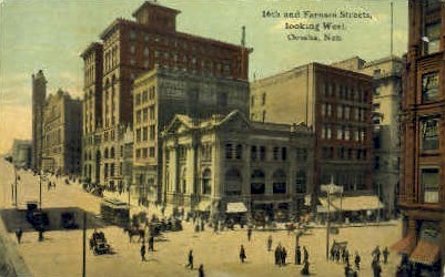 16th & Farnam Sts. - Omaha, Nebraska NE Postcard