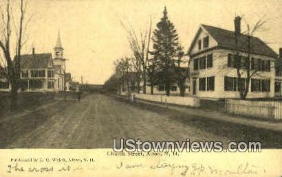 Church Street - Alton, New Hampshire NH Postcard