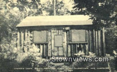 Spruce Pong Girl Scout Camp - Allenstown, New Hampshire NH Postcard