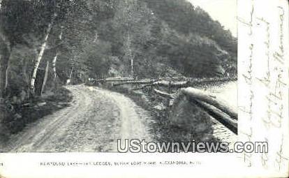 Newfound Lake Views, Sugar Loaf Road - Alexandria, New Hampshire NH Postcard