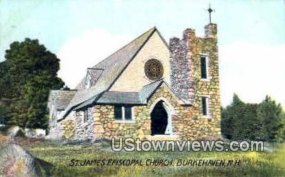 St James Episcopal Church - Burkehaven, New Hampshire NH Postcard