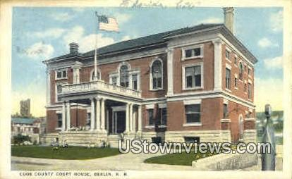 Coos County Court House - Berlin, New Hampshire NH Postcard