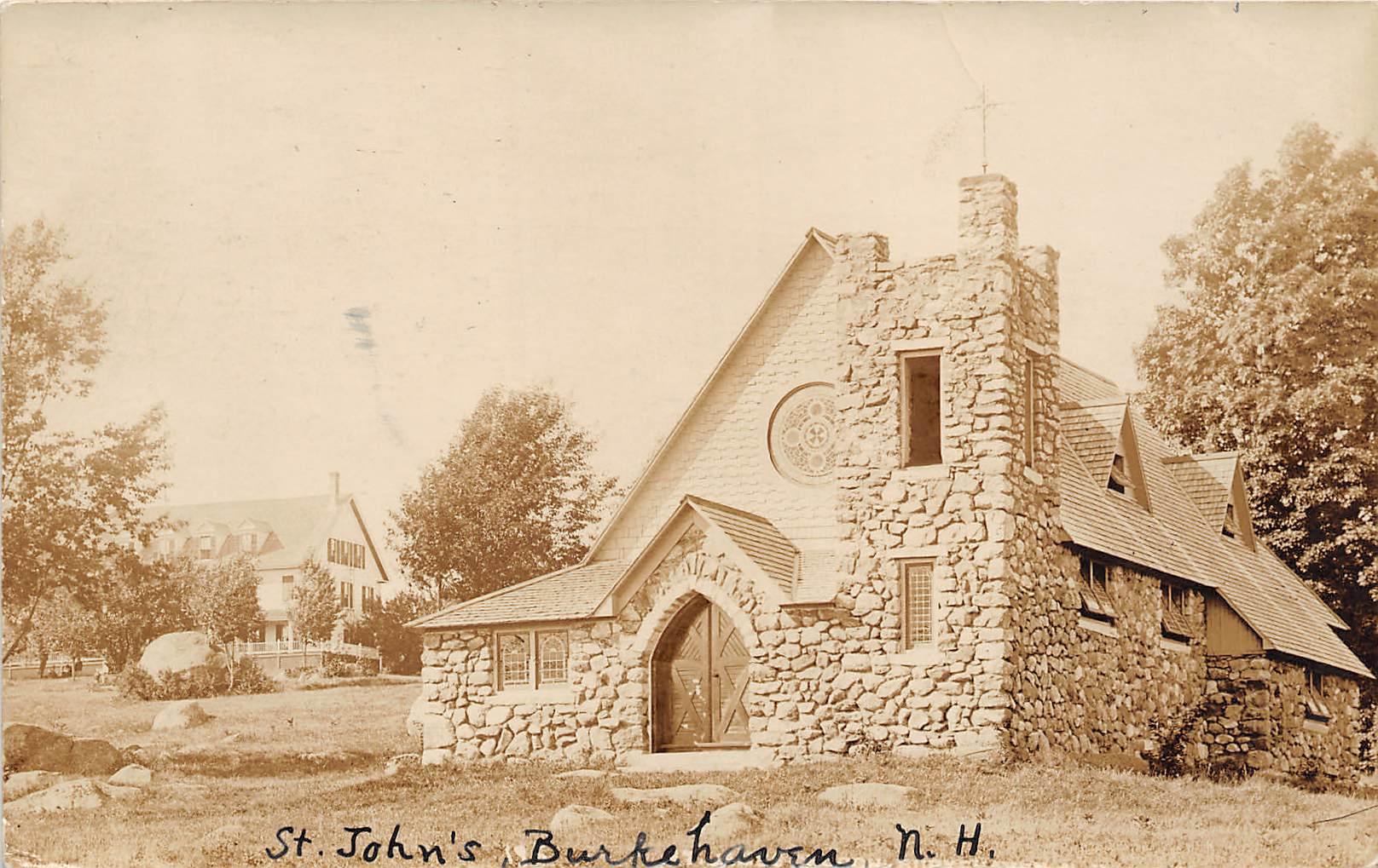 St John's - Burkehaven, New Hampshire NH Postcard