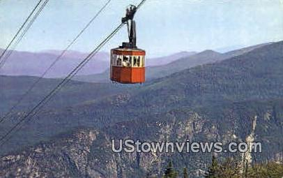 Tram Car, Eagle Cliff - Franconia Notch, New Hampshire NH Postcard