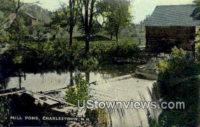 Mill Pond - Charlestown, New Hampshire NH Postcard