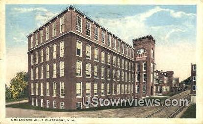 Monadnock Mills - Claremont, New Hampshire NH Postcard