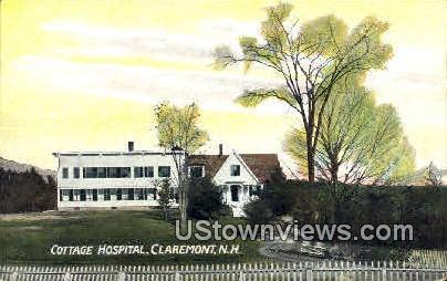 Cottage Hospital - Claremont, New Hampshire NH Postcard