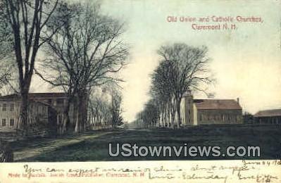 Catholic Churches - Claremont, New Hampshire NH Postcard
