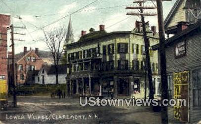 Lower Village - Claremont, New Hampshire NH Postcard