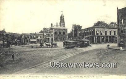 Tremont Square - Claremont, New Hampshire NH Postcard