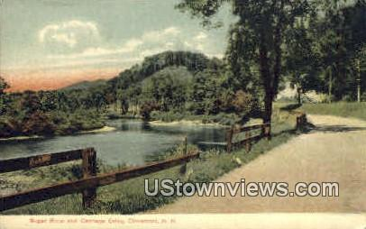 Sugar River & Carriage Drive - Claremont, New Hampshire NH Postcard