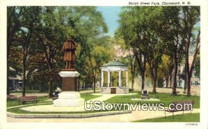 Broad St. Park - Claremont, New Hampshire NH Postcard