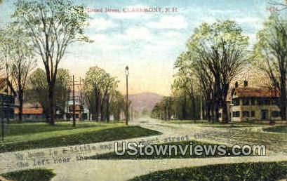 Broad St. - Claremont, New Hampshire NH Postcard