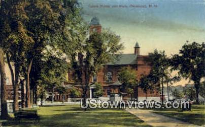 Opera House & Park - Claremont, New Hampshire NH Postcard