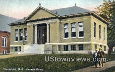 Carnegie Library - Claremont, New Hampshire NH Postcard